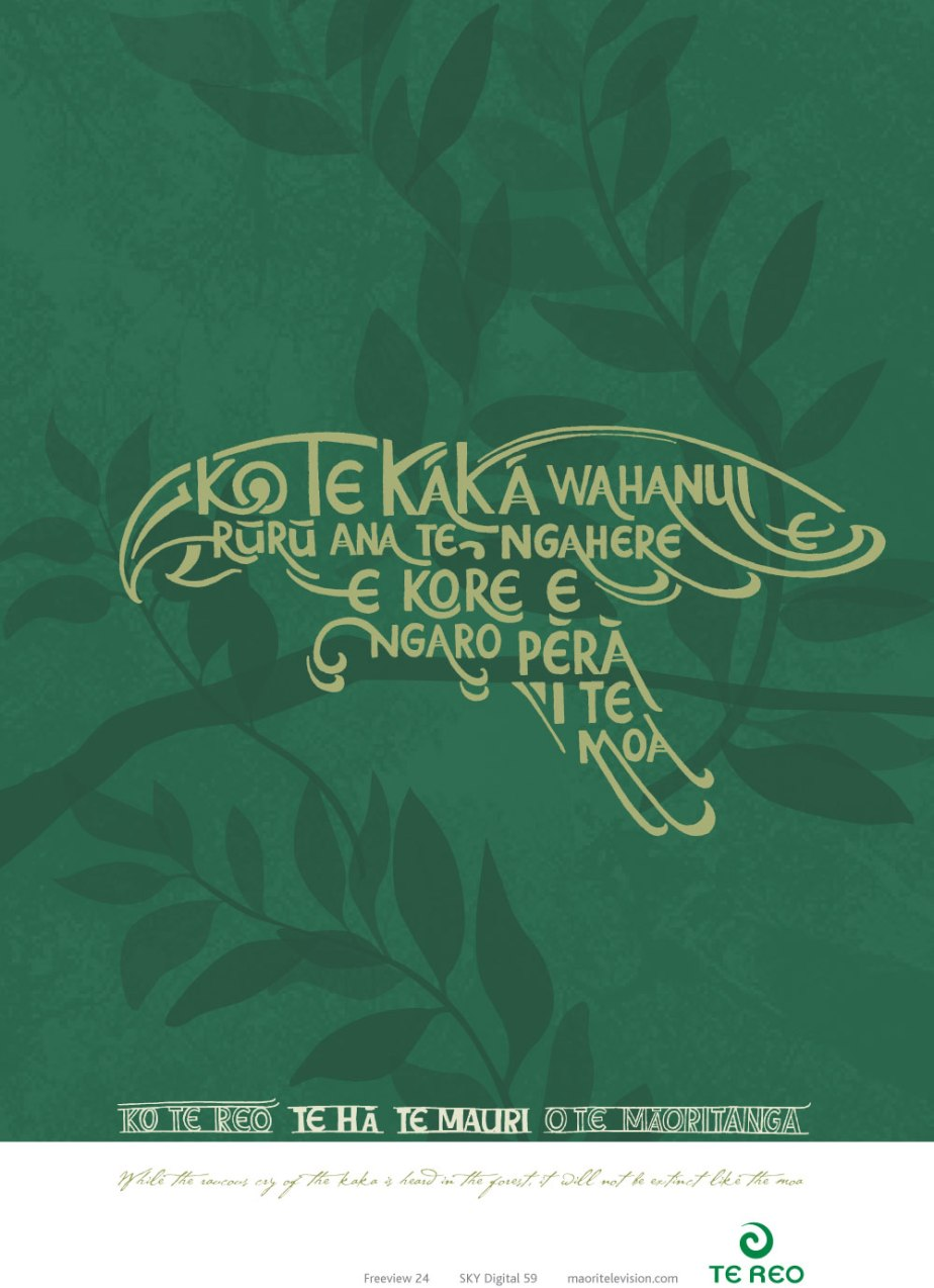 Suzanne Day-Te Reo-kaka poster